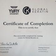 GKhair - Global Keratin sertifikatas